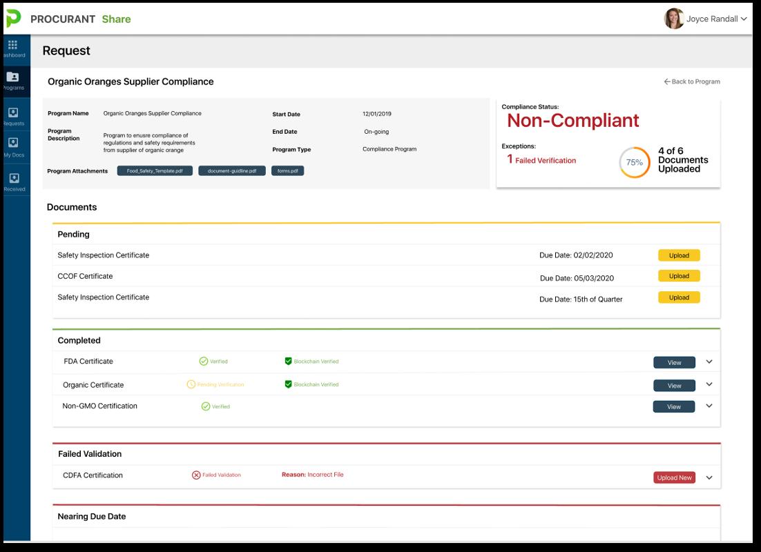 Share-compliancescreen